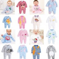 SC168 Ex Chainstore Applique Detail Sleepsuit / Romper x100
