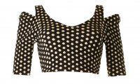 SL627 Ex UK Chainstore Jersey Textured Spotty Crop x12