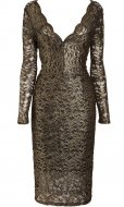 SL355 Ex UK Chainstore Gold Lace Bodycon Dress x12