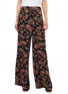 SL808 Ex UK Chainstore Black Paisley Print Wide Leg Trousers x10