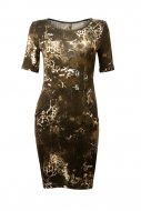 SL610 Ex UK Chainstore camouflage Effect Bodycon Dress x9