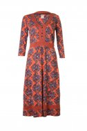 SL719 Ex UK Chainstore Red Belted Paisley Print Dress x12