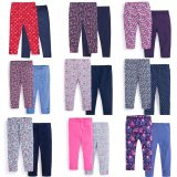 SC169 Ex Chainstore Set of 2 Printed Plain Essential Leggingsx50