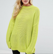 SL1021 Ex Chainstore Oversized Chunky Jumper Lime x13