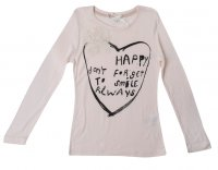SC051 Ex UK Chainstore Love Heart & Flower Top Top - Cream x12