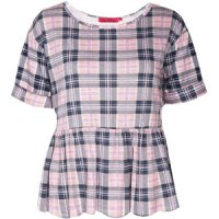 SL106 Ex UK Chainstore Pastel Tartan Smock Top x8
