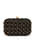 SL726 Ex UK Chainstore Embellished Hardcase Clutch Bag x10