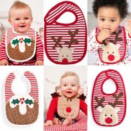 SC170 Ex Chainstore Christmas Applique Bibs x50