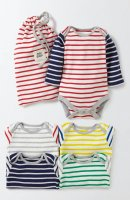 SC100 Ex Chainstore Baby Boys 4 Pack Thin Stripes Bodies x7
