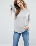 SL1345 Ex Chainstore Oversized Jumper In Sheer Knit - Grey x16