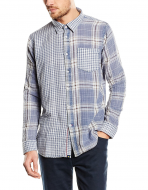 SM026 Ex UK Chainstore Two Way Check Shirt - Acid Wash x12