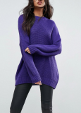SL1020 Ex Chainstore Oversized Chunky Jumper Purple x12