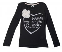 SC052 Ex UK Chainstore Love Heart & Flower Top Top - Black x12