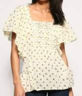 SL071 Ex UK Chainstore Angel Sleeve Printed Top x11