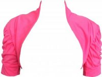 SL026 EX UK Chainstore Pink Ruched Sleeve Shrug x12