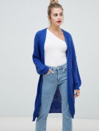 SL1329 Ex Chainstore Long Cardigan In Oversized Shape - Blue x9