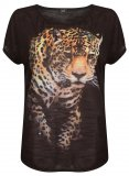 SL994 Ex UK Chainstore Black Tiger Print Tee (x22)