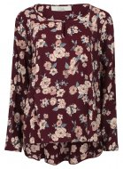 SL1102 Ex Chainstore Floral Blouse - Purple x12