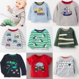 SC117 Ex Chainstore Baby Boys Applique Print Fun Tops x100