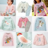 SC116 Ex Chainstore Baby Girls Applique Print Fun Tops x142