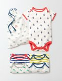 SC125 Ex Chainstore Insects & Stripes 4 Pack Bodysuits (x5)