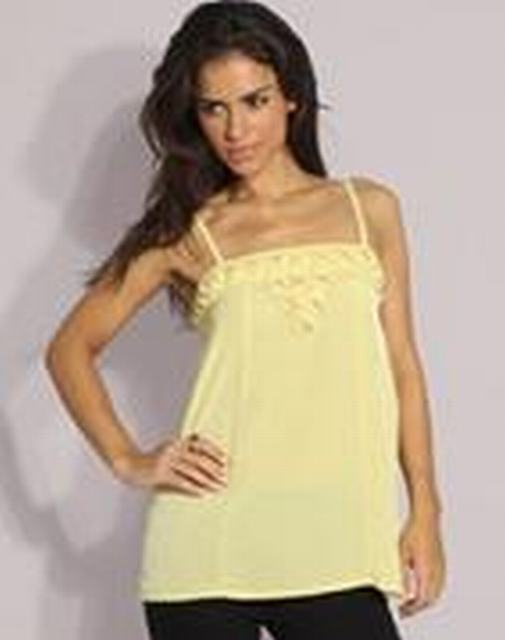 SL053 Ex UK Chainstore Pale Lime Origami Detail Cami Top x8