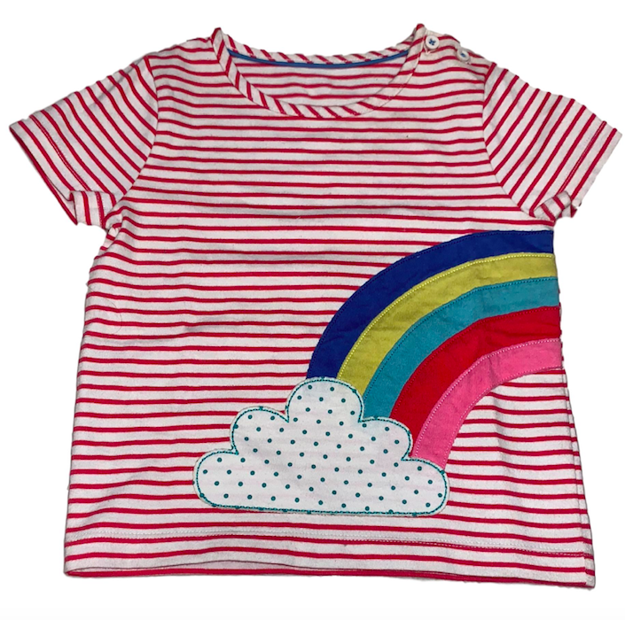 SC229 Ex Chainstore Stripe Rainbow Applique T-Shirt (x62)