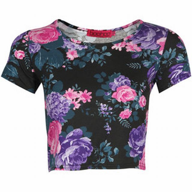 SL105 Ex UK Chainstore Floral Crop Top x9