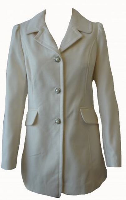 SL082 Ex UK Chainstore Pearl Button Coat - Cream x6