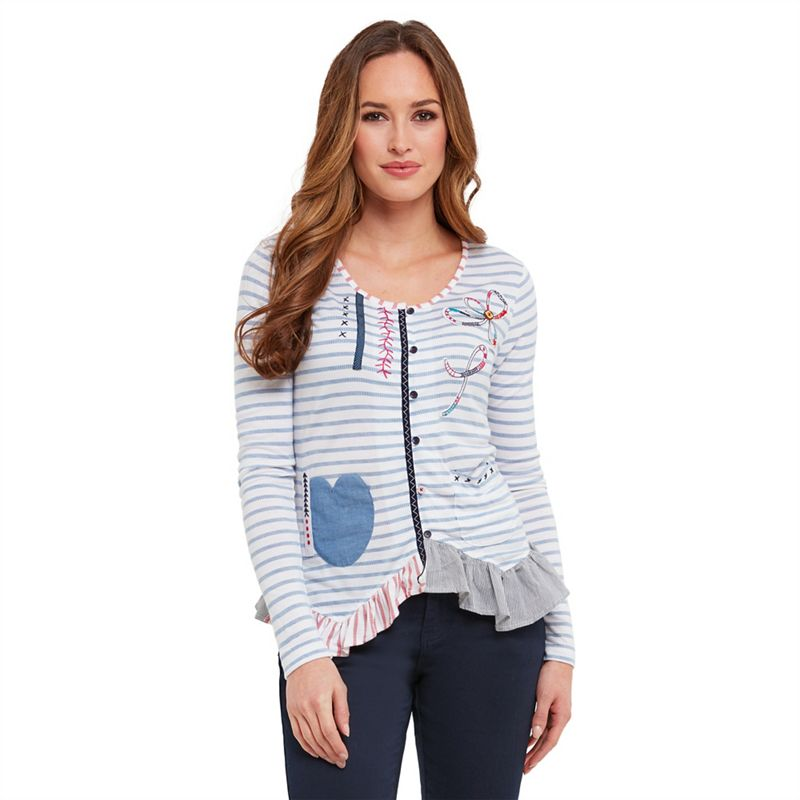 SL1455 Ex Chainstore Ship To Shore Pocket Blouse x12
