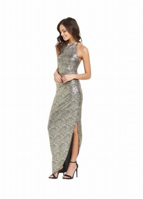 SL1168 Ex Chainstore High Neck Maxi Dress With Side Split x10