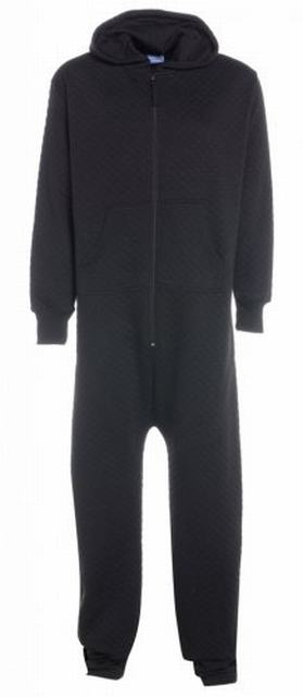 SM015 Ex UK Chainstore Black Quilted Onesie x7