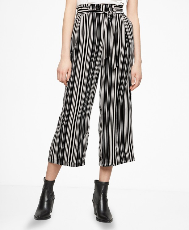 SL1476 Ex Chainstore Stripe Vinnie Emerald Crop Trouser x8