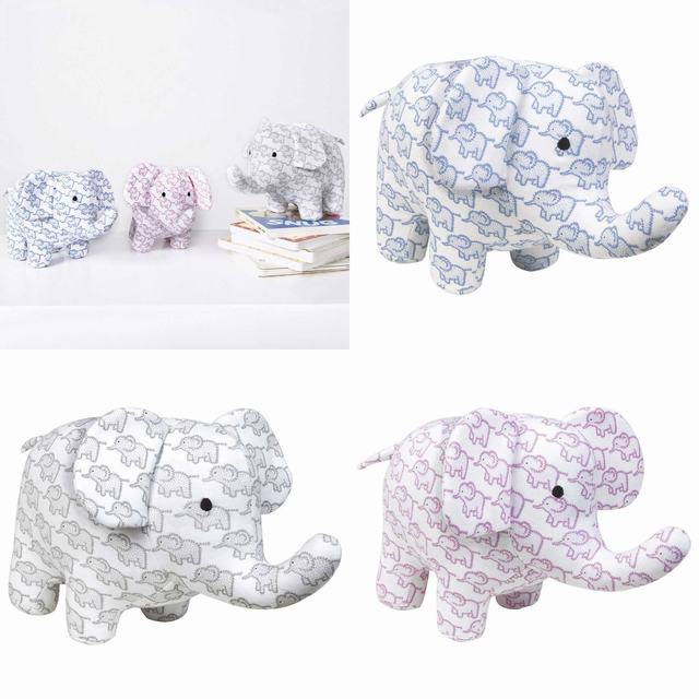 SL256 Ex Chainstore Little Elephants Printed Soft Toy (x50)