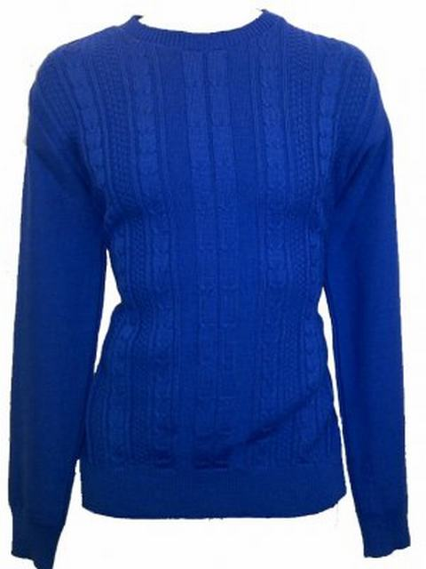 SM001 Ex UK Chainstore Blue Cable Knit Jumper x12