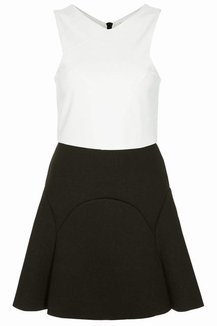 SL729 Ex UK Chainstore Colour Block Bonded Skater Dress x3