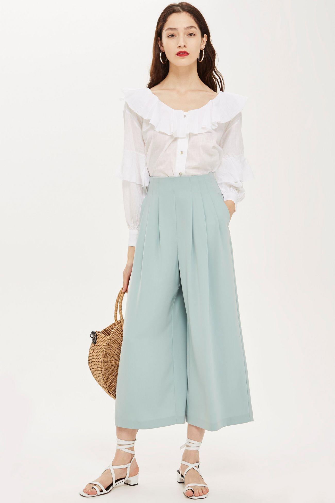 SL1392 Ex Chainstore Floaty High Waist Culottes x12