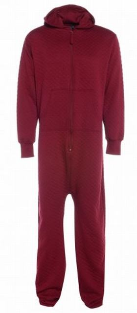 SM014 Ex UK Chainstore Wine Quilted Onesie x7