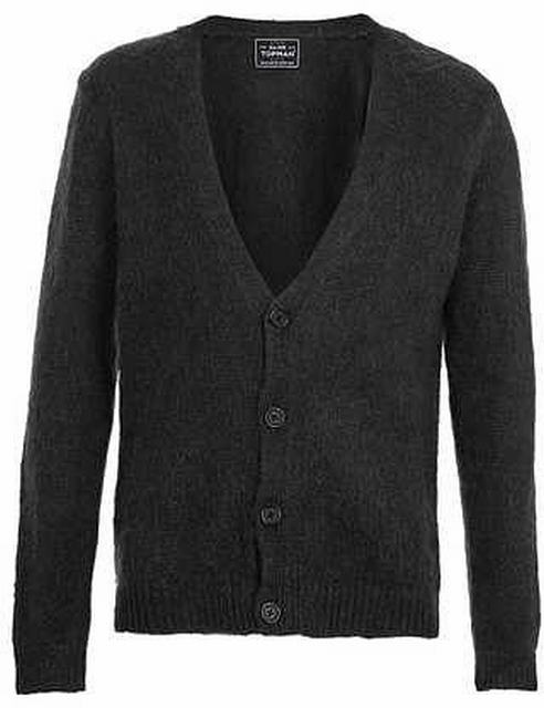 SM020 Ex UK Chainstore Mohair Infused Cardigan - Black x12